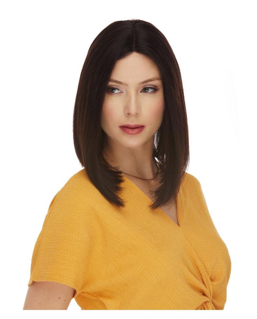 Perruque lace front en cheveux 100% naturels Veronica (brun)