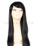 Très longue perruque synthétique aux cheveux lisses Aphrodite (brun)