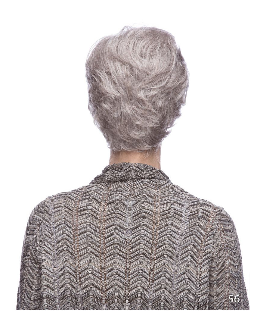 Perruque synthétique courte et ondulée Jesse (gris)