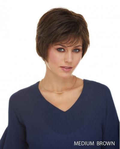 Perruque synthétique courte coupe pixie Josephine (brun)