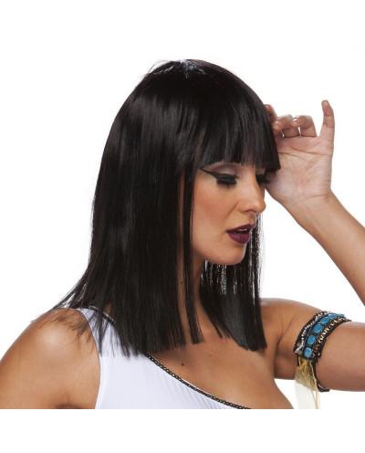 Characters — Perruque synthétique mi-longue déguisement Cleopatra