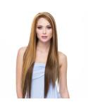 Sepia — Perruque synthétique longue et lace front Yumi (balayage californien)