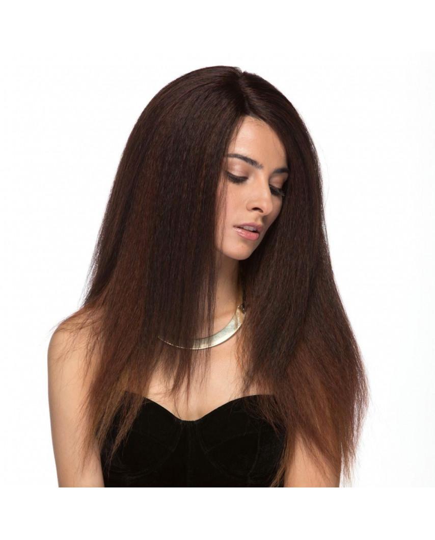Sepia — Perruque longue à texture Yaki et lace front Lotti