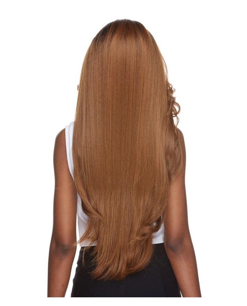 Sepia — Perruque synthétique longue et lace front Cameron