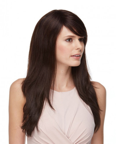Eleganté — Perruque en cheveux 100% naturels longue et lisse Freesia (brun)