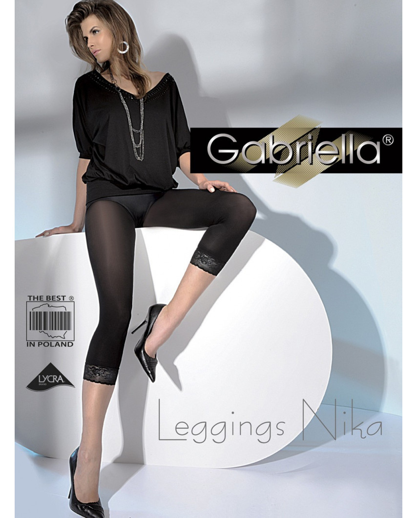 Gabriella — Leggings avec finition dentelle Nika