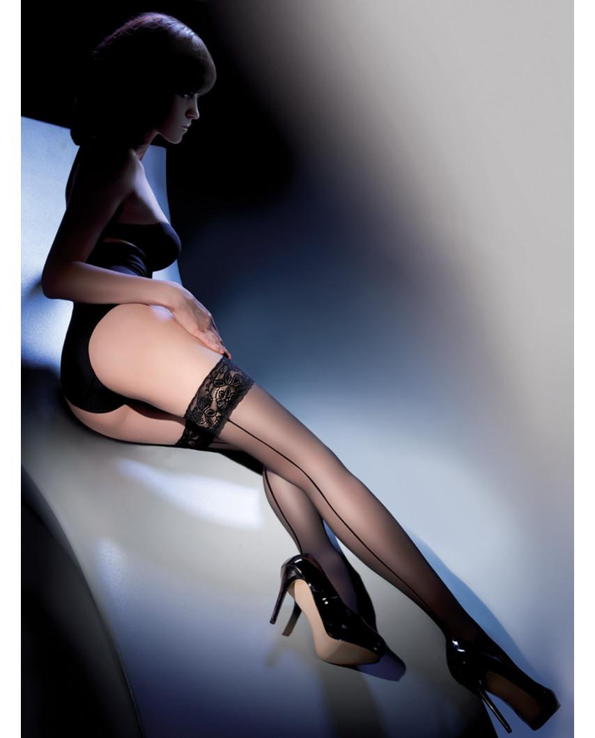 Gabriella — Bas autofixants à couture 20 deniers Linette