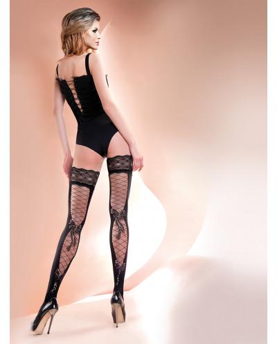 Gabriella — Bas autofixants imitation corset Carla