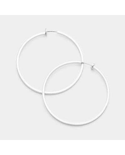 Aurora — Créoles à clips d'oreilles plates