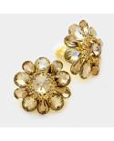 Fashion Jewelry — Boucles d'oreilles à clips en forme de larges fleurs