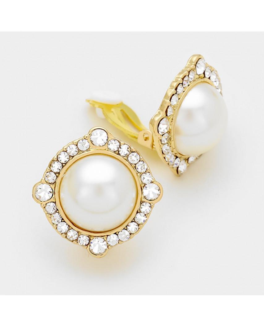 Fashion Jewelry — Boucles d'oreilles perles à clips