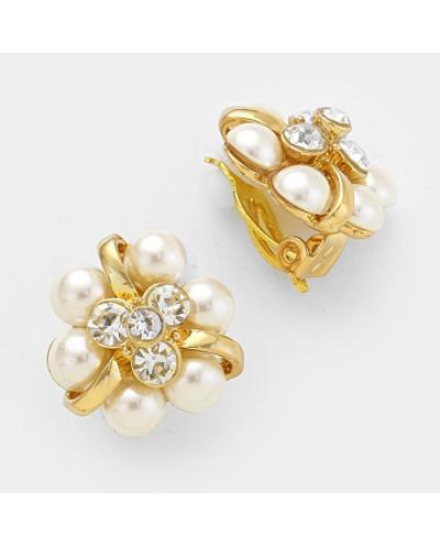 Fashion Jewelry — Boucles d'oreilles à clips boutons de fleurs