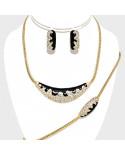 Christina Collection — Parure de bijoux noir et strass