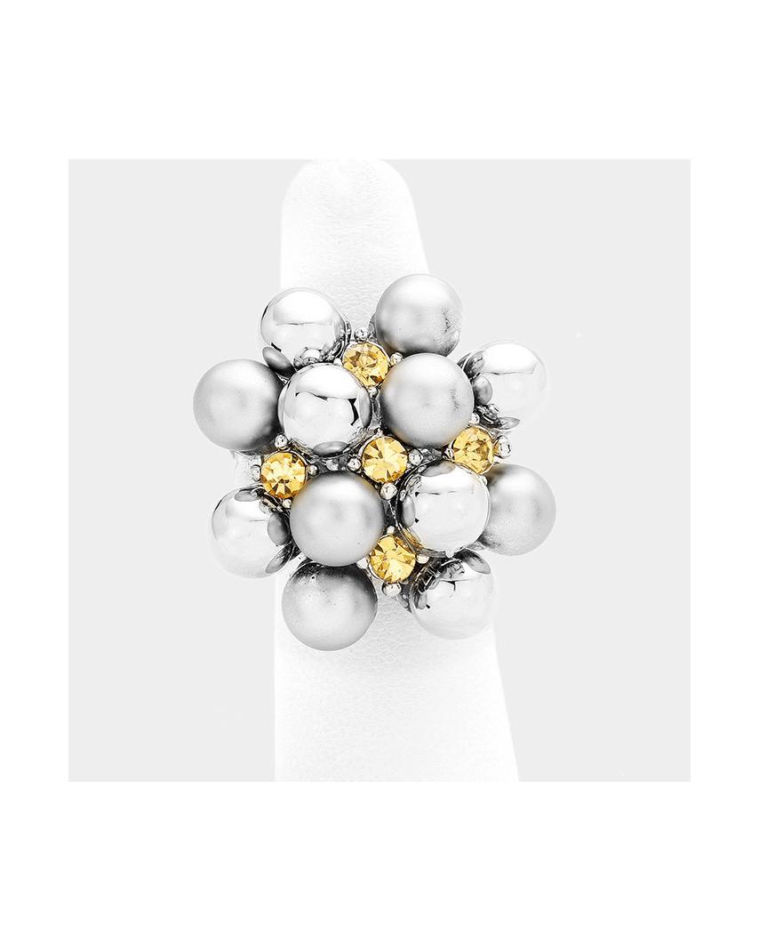 Fashion Jewelry — Bague extensible en forme de grappe