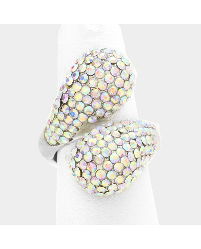 Fashion Jewelry — Bague extensible décorée de pierres brillantes