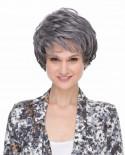 Sepia — Perruque synthétique courte effet décoiffé Paula (gris)