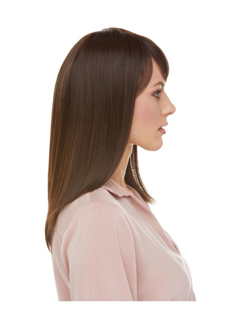 Sepia — Perruque synthétique mi-longue à frange Missy