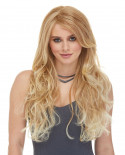 Blush — Perruque synthétique longue ondulée Cala (blond)