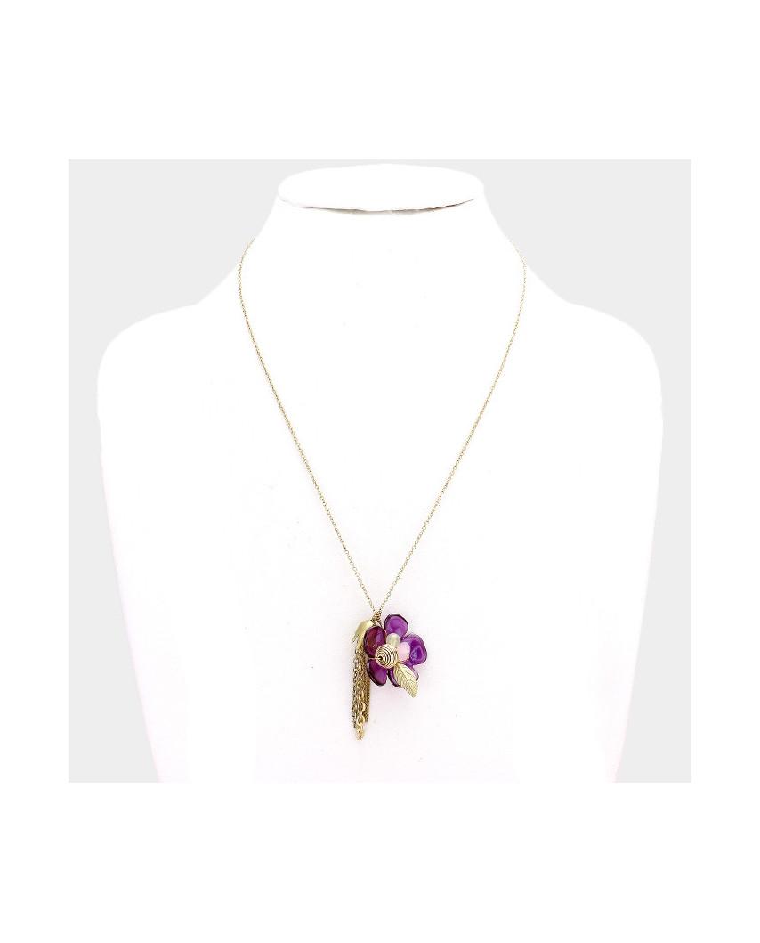Radiant — Collier avec perles de verre et breloques