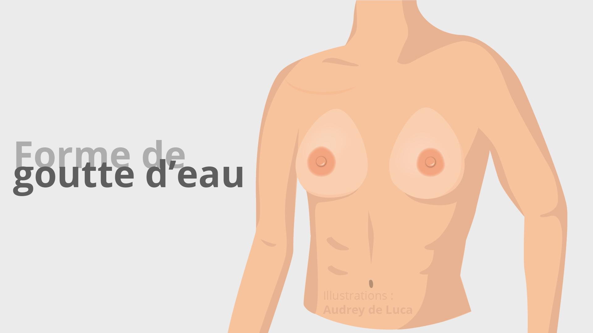 Faux seins - Forme de goutte d'eau